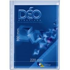 Protetores Transparentes - C/ tarja lateral ou furos - C/ tarja lateral e 11 furos - ofício (Ref. 610) - Embalagem com 50 unidades