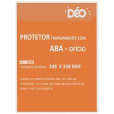 Protetores Transparentes - C/ aba - tipo envelope - C/ tampa - ofício (Ref. 618) - Embalagem com 50 unidades