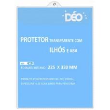 Protetores Transparentes - Em PVC com ilhós para pendurar - C/ tampa e ilhós - ofício (Ref. 619) - Embalagem com 50 unidades